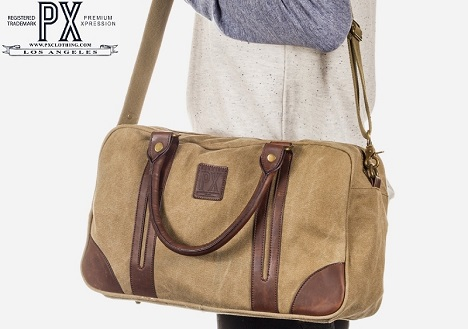 PX Clothing - Nick Day Tripper Bag (Khaki)