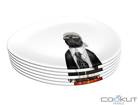 Cookut Takkoda Pets Rock® - Set of 6 Dessert Plates