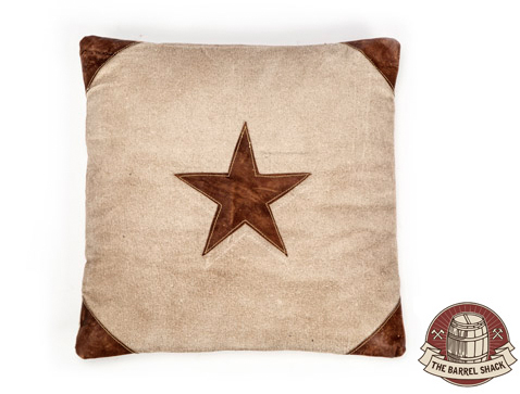 The Barrel Shack™ - The Fable - Handmade Pillow with Leather Star