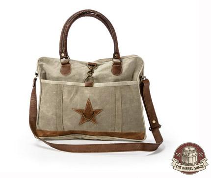 The Barrel Shack™ - Josette - Handmade Messenger Bag with Star