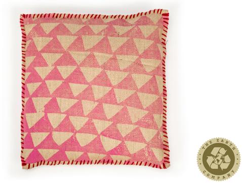 The Earth Company  100% Pure Jute cushion - Amaranth (ships 10/18)
