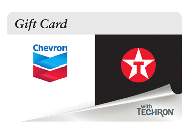 $100 Chevron and Texaco Gift Card