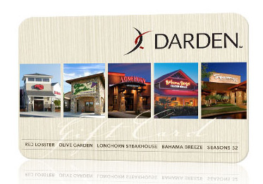 $25 Darden Restaurants Gift Card