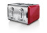 Bella Dots 4 Slice Toaster, Red
