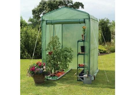 Gardman Walk-In 4 x 6 ft. Greenhouse with Shelving