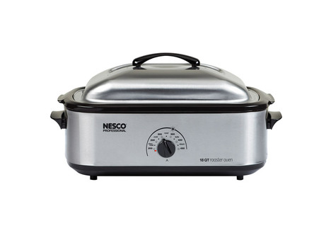 Nesco 22-Pound Turkey Roaster Oven, 18-Quart Capacity, Stainless Steel