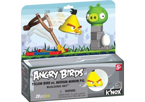 K'NEX Angry Birds Yellow Bird Vs. Medium Minion Pig Building Set