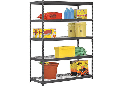 Edsal Five-Shelf Heavy-Duty Steel Shelving Unit