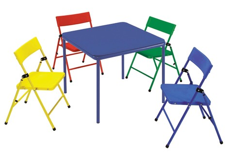 Kid's 5 Piece Folding Chair and Table Set