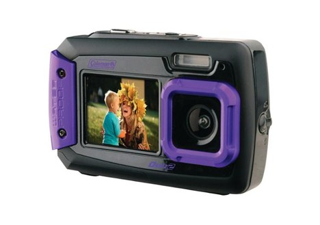 Coleman Duo2 Dual-Screen Waterproof Digital Camera (Purple)