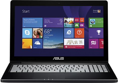 Asus 15.6-Inch Touch-Screen Laptop with 8GB Memory