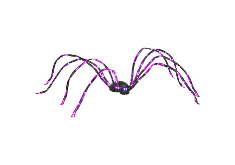 Gemmy Halloween Energy Efficient LED Purple Light Spider