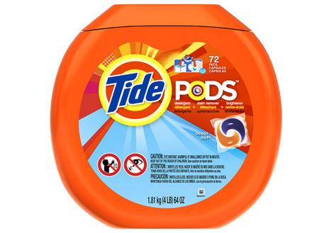 Tide Pods Ocean Mist Detergent, 72ct