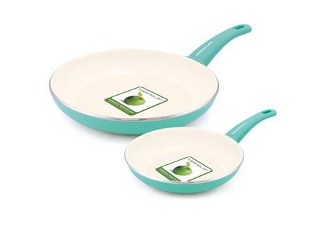 GreenLife Healthy Ceramic Non-Stick 2-Piece Open Fry Pan Set