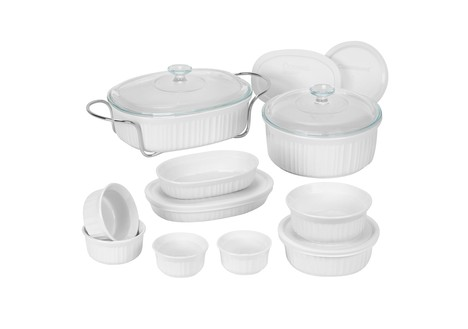 CorningWare French White 17 Piece Bake and Serve Set