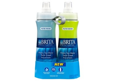 Brita 20-Ounce Bottle With Filter, Twin Pack