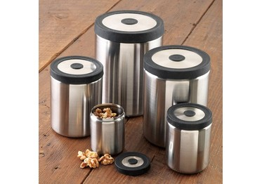 OXO SteeL Press Top 5-Piece Canister Set