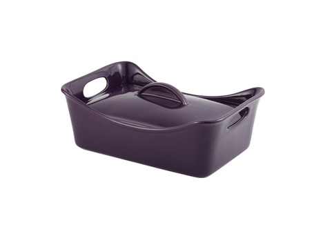 Rachael Ray 3.5-Quart Covered Rectangle Casserole, Purple