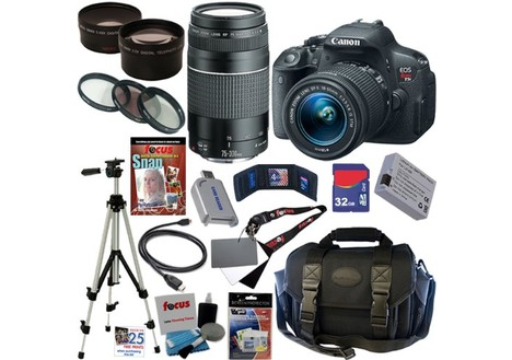 Canon EOS Rebel T5i 18.0 MP CMOS Digital Camera Bundle Kit
