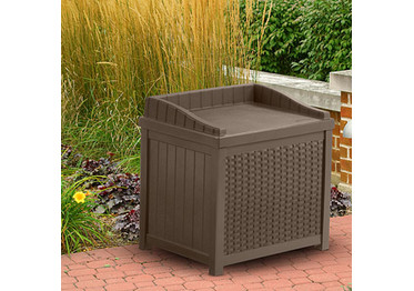 Suncast 22 Gallon Resin Wicker Storage Seat