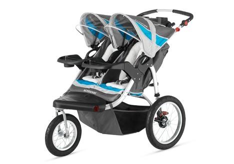 Schwinn Turismo Double Jogging Stroller, Gray & Blue